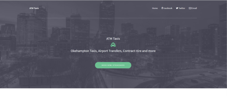 Build mobile friendly website for local taxi company called ATM Taxis