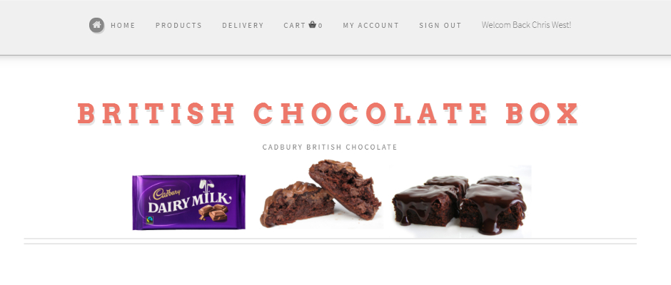 The British Chocolate Box website design and coding