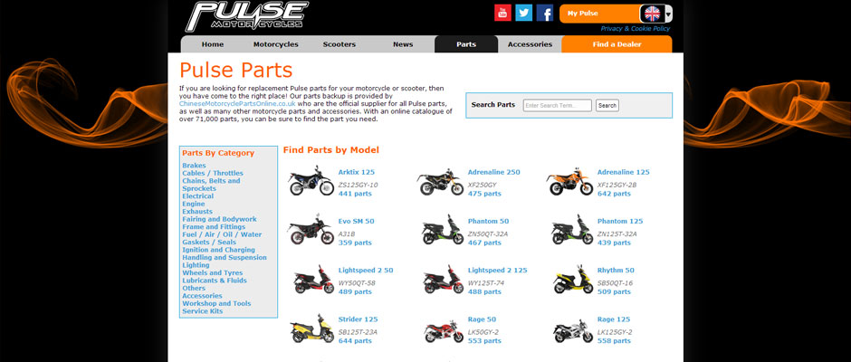 Pulsemoto built from scratch using PHP5, HTML5, CSS3 & jQuery